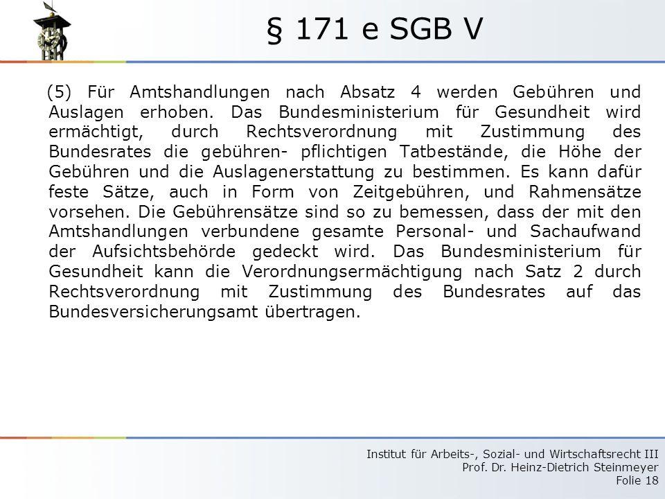 § 171 e SGB V