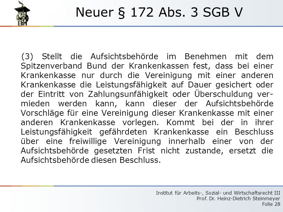 Neuer § 172 Abs. 3 SGB V