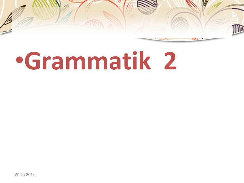 Grammatik 2 31.03.2017