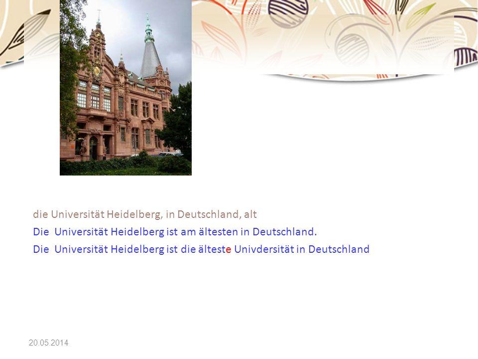 die Universität Heidelberg, in Deutschland, alt