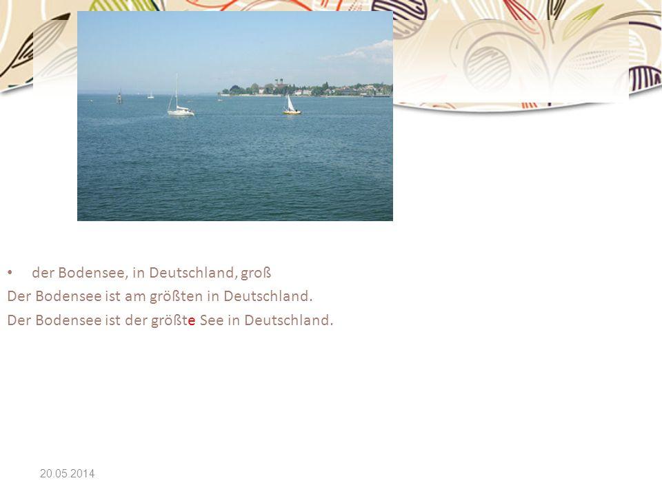 der Bodensee, in Deutschland, groß