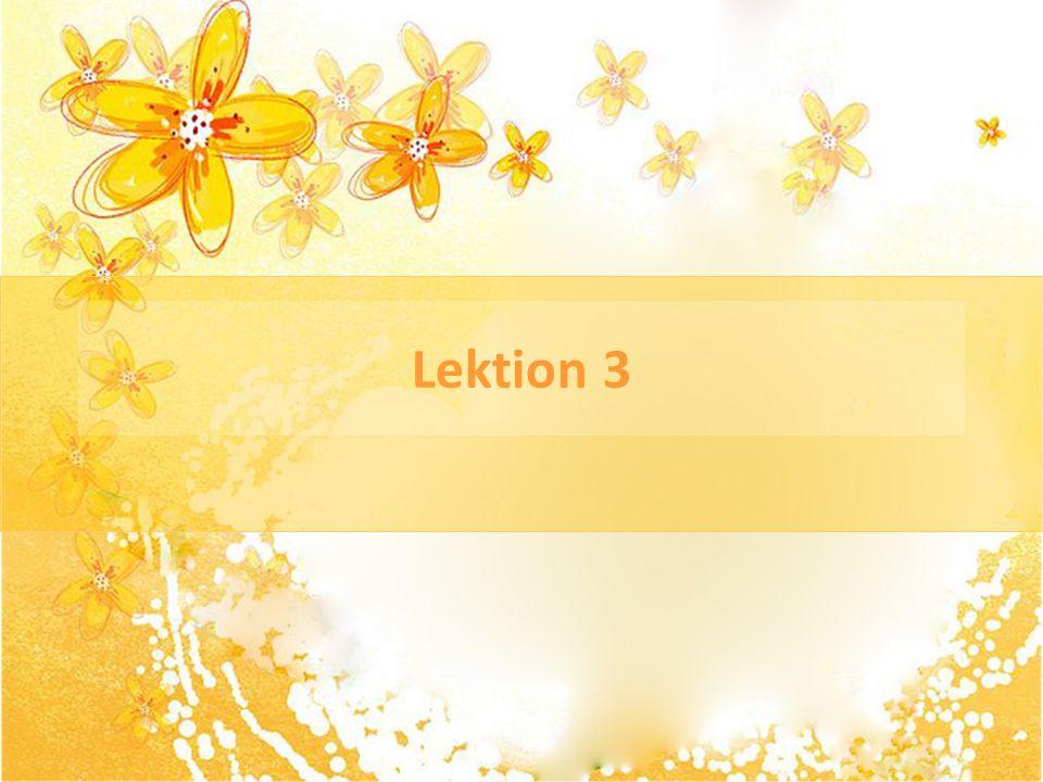 Lektion 3