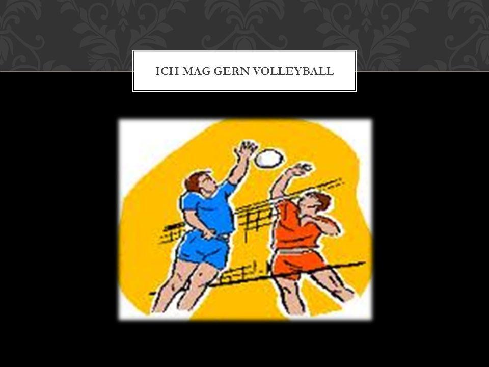 Ich mag gern volleyball