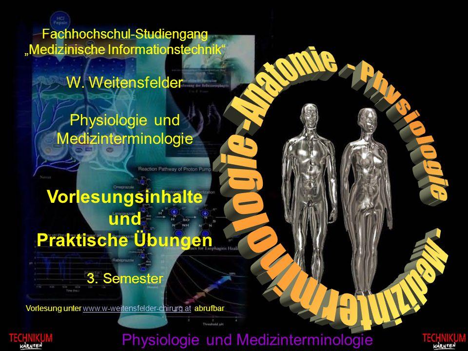 - Medizinterminologie -Anatomie - Physiologie