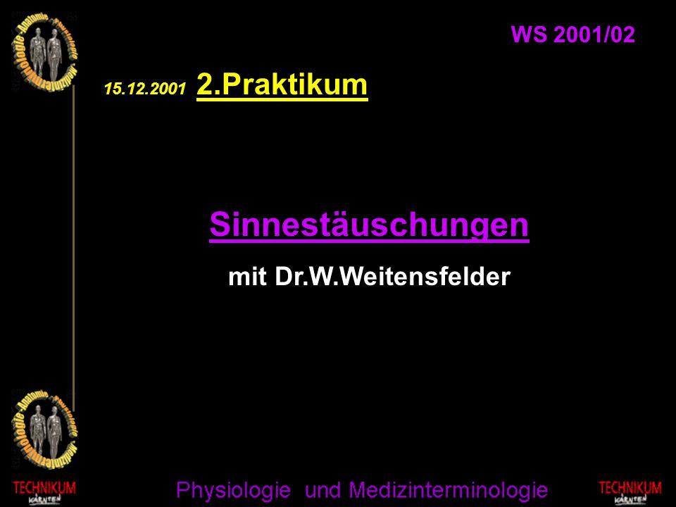 Sinnestäuschungen mit Dr.W.Weitensfelder WS 2001/02