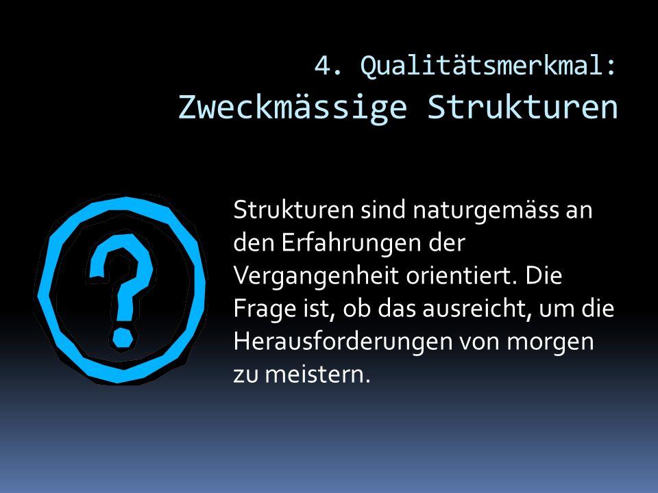 4. Qualitätsmerkmal: Zweckmässige Strukturen