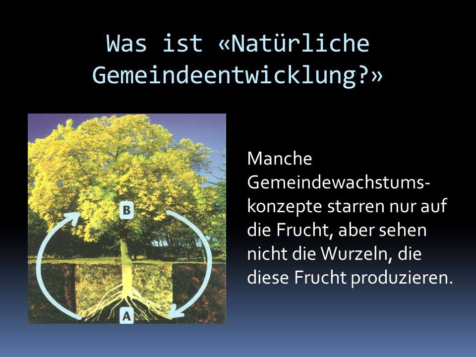 Was ist «Natürliche Gemeindeentwicklung »