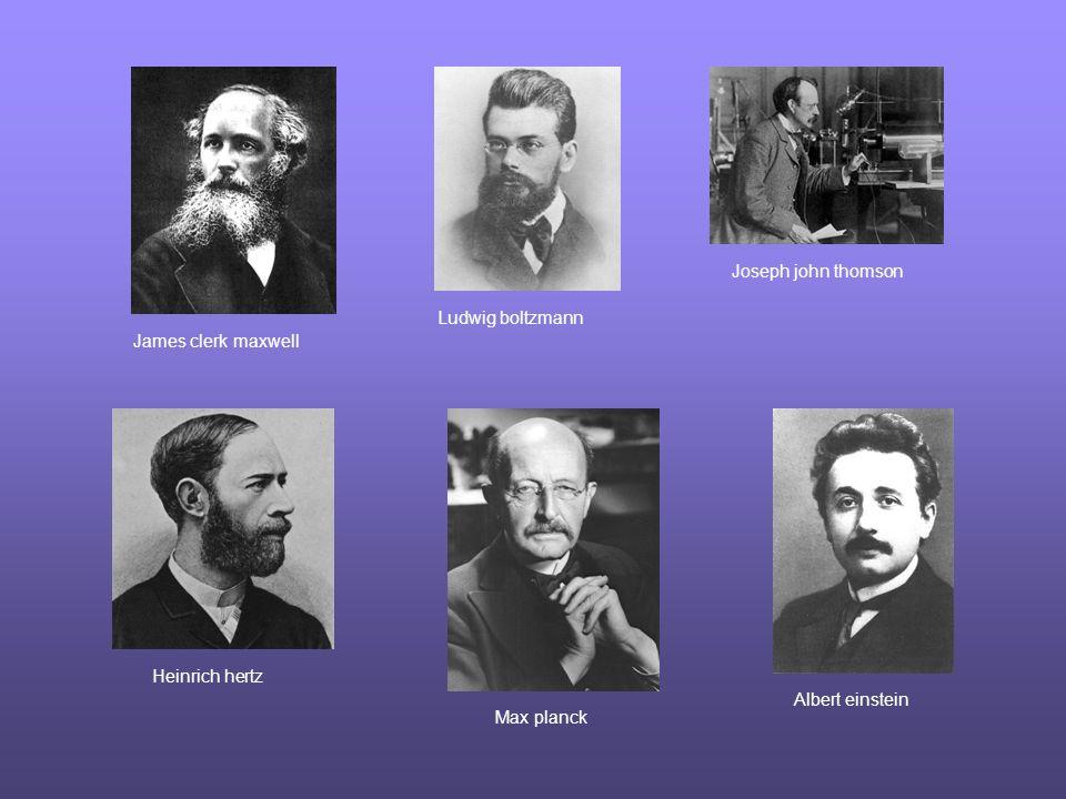 James clerk maxwell Ludwig boltzmann Joseph john thomson Heinrich hertz Max planck Albert einstein