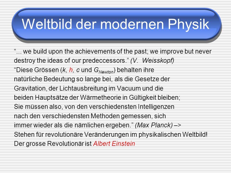Weltbild der modernen Physik