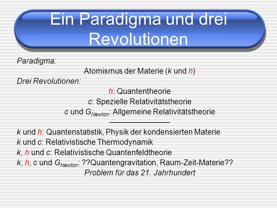 Ein Paradigma und drei Revolutionen
