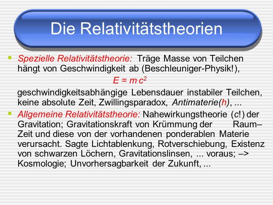 Die Relativitätstheorien