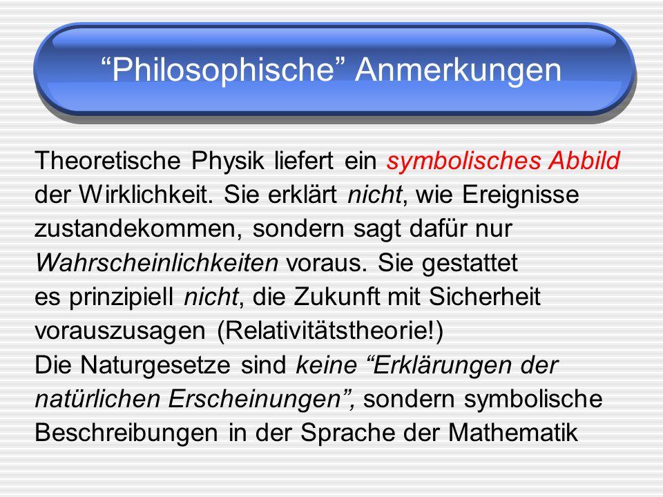 Philosophische Anmerkungen