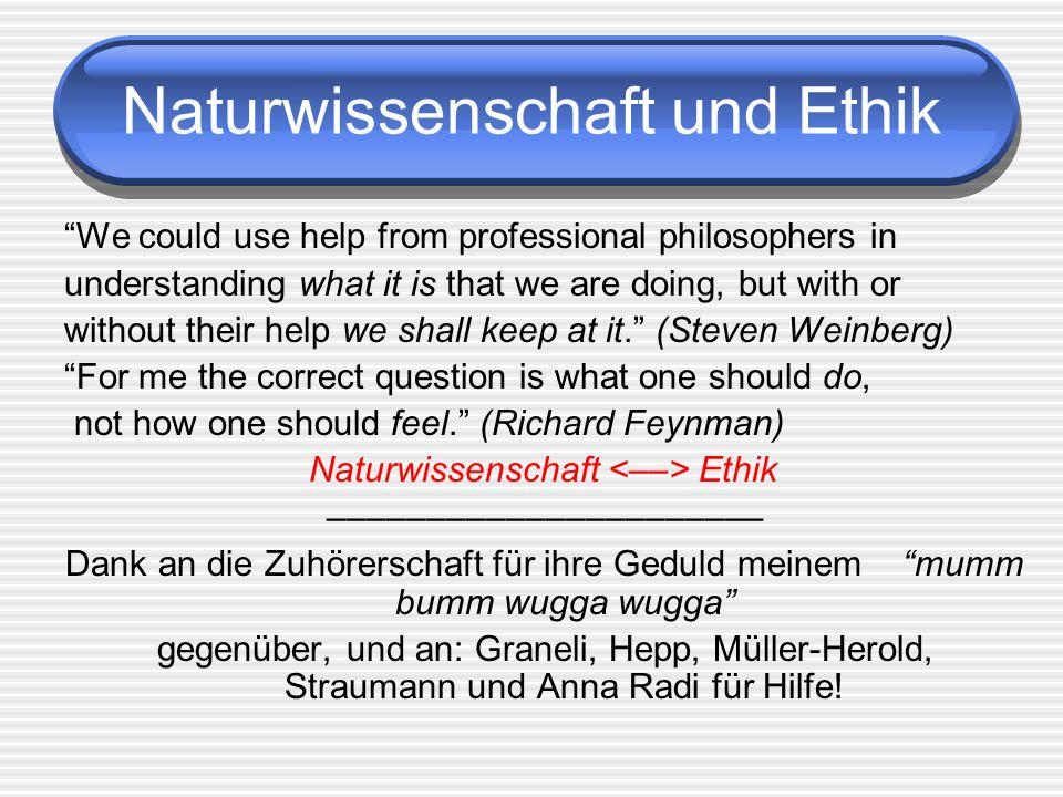 Naturwissenschaft und Ethik