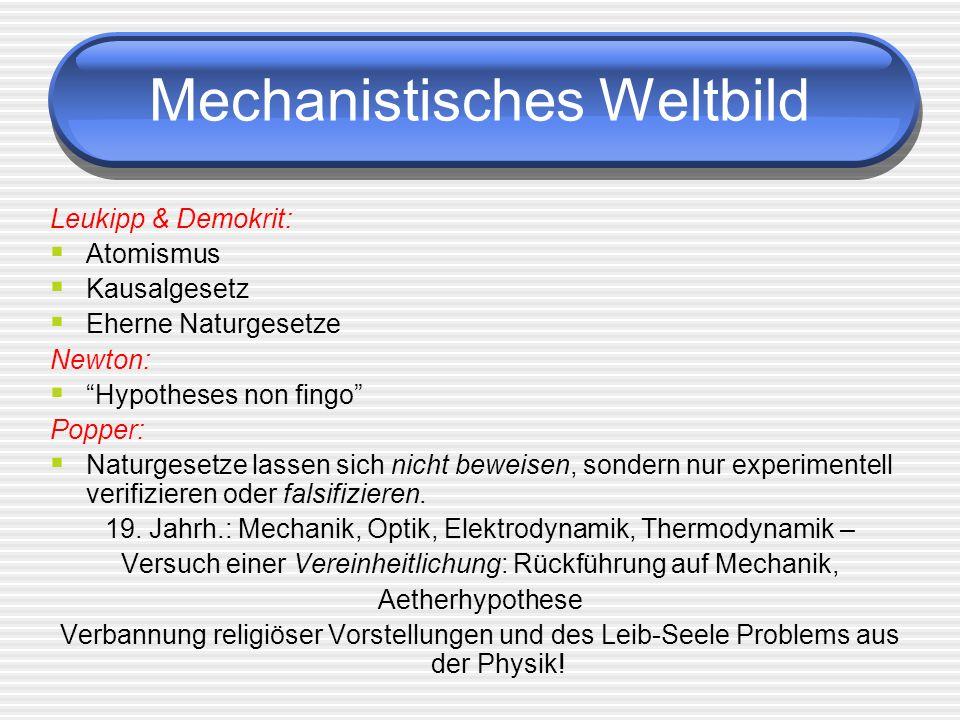 Mechanistisches Weltbild