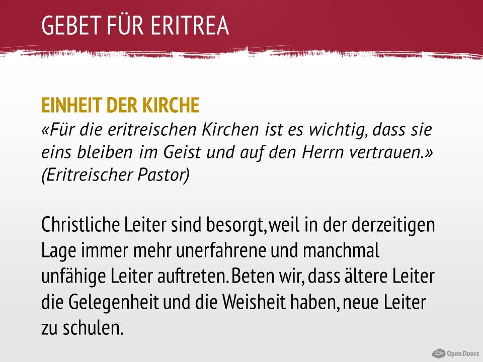 GEBET FÜR ERITREA EINHEIT DER KIRCHE