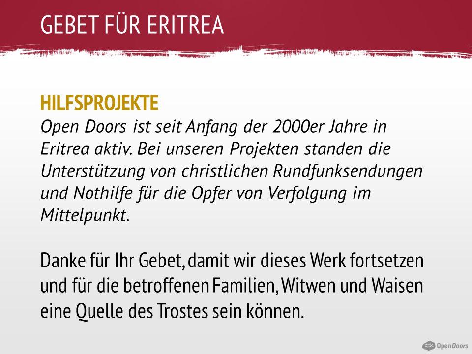 GEBET FÜR ERITREA HILFSPROJEKTE