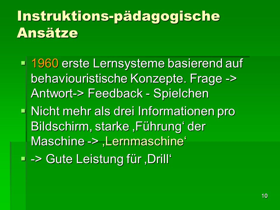 Instruktions-pädagogische Ansätze