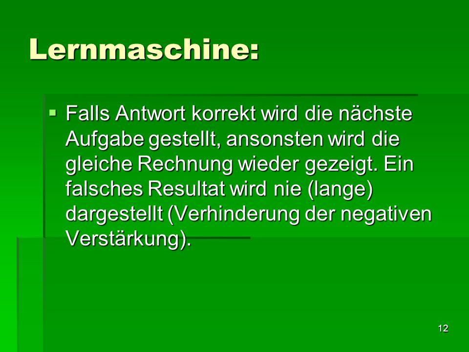 Lernmaschine: