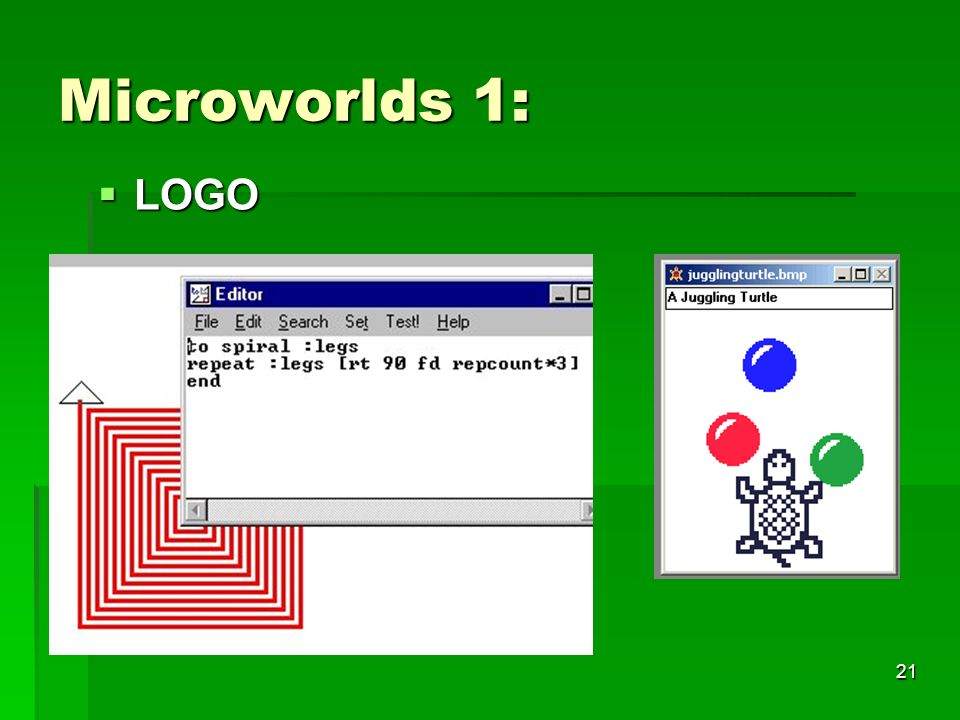 Microworlds 1: LOGO