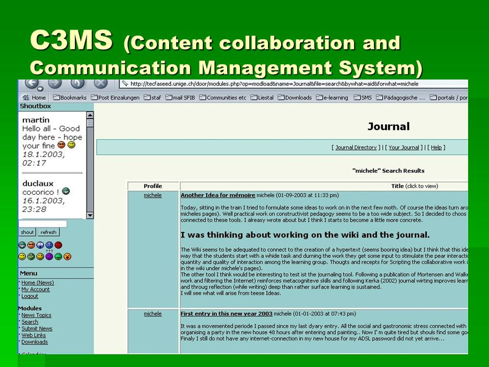 C3MS (Content collaboration and Communication Management System)