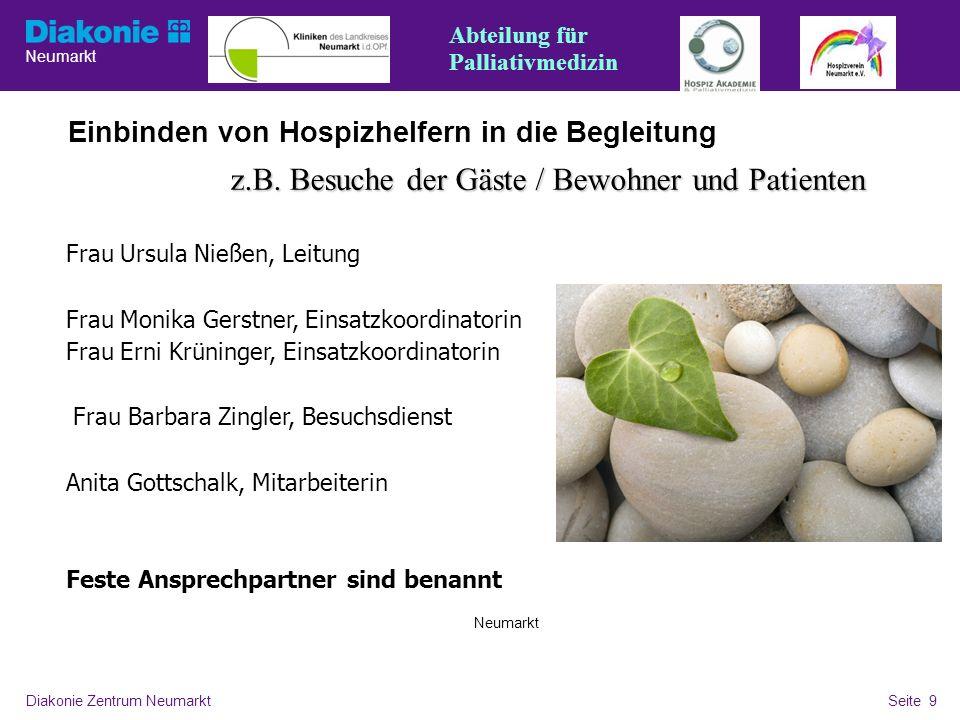 z.B. Besuche der Gäste / Bewohner und Patienten