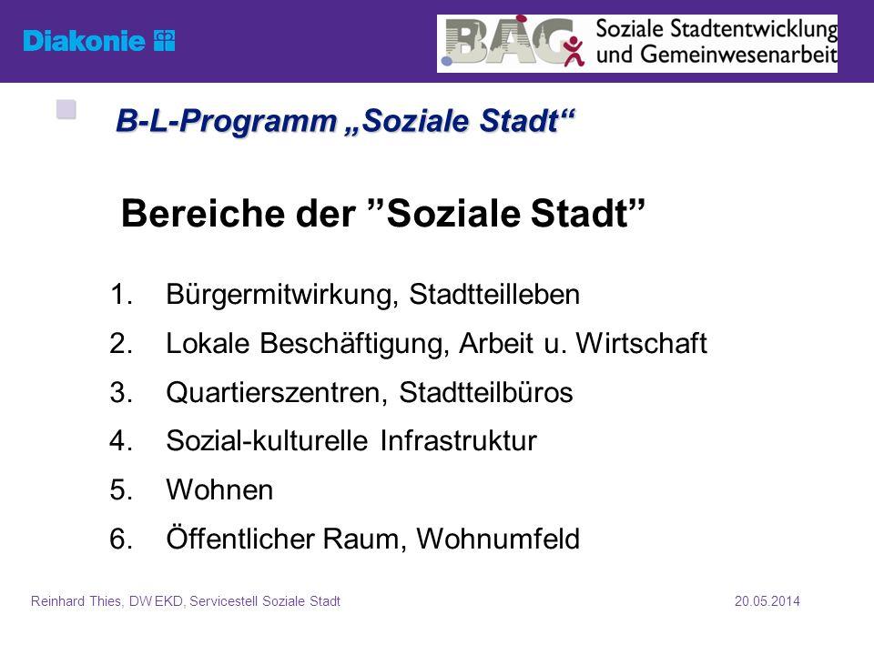 """B-L-Programm """"Soziale Stadt"""