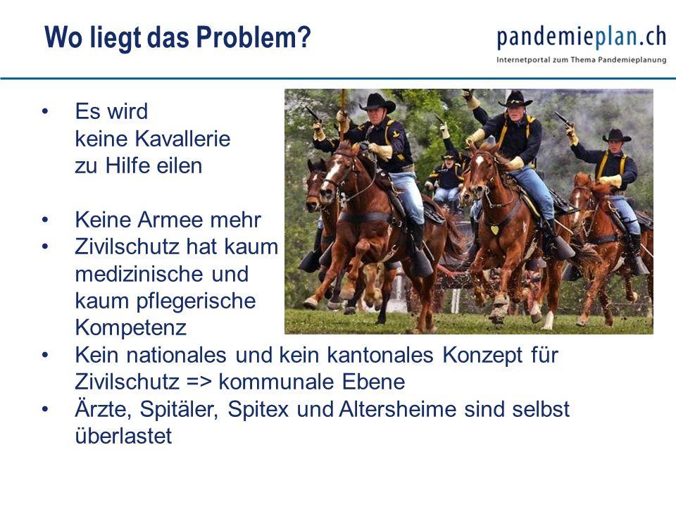 Wo liegt das Problem Es wird keine Kavallerie zu Hilfe eilen