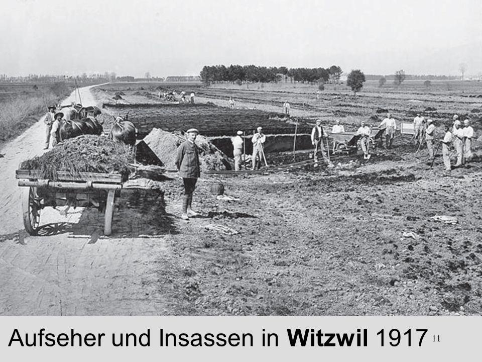Aufseher und Insassen in Witzwil 1917