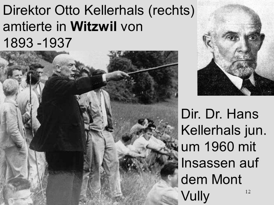 Direktor Otto Kellerhals (rechts)