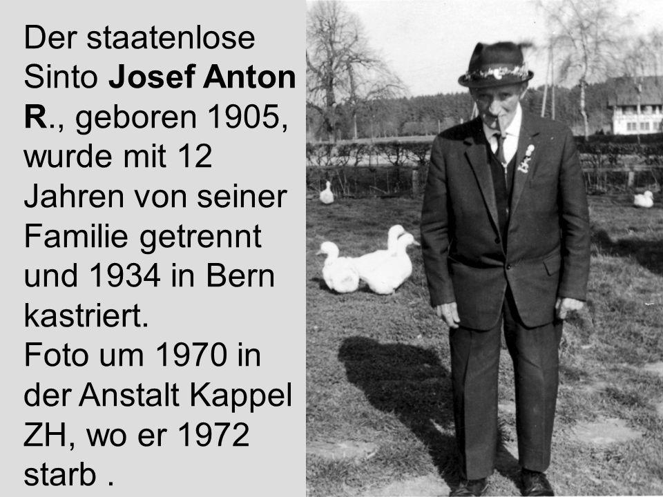 Der staatenlose Sinto Josef Anton R
