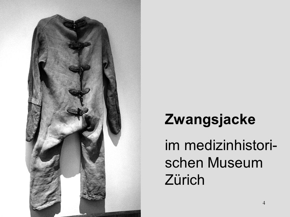 Zwangsjacke im medizinhistori-schen Museum Zürich