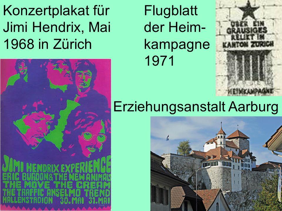 Konzertplakat für Jimi Hendrix, Mai 1968 in Zürich