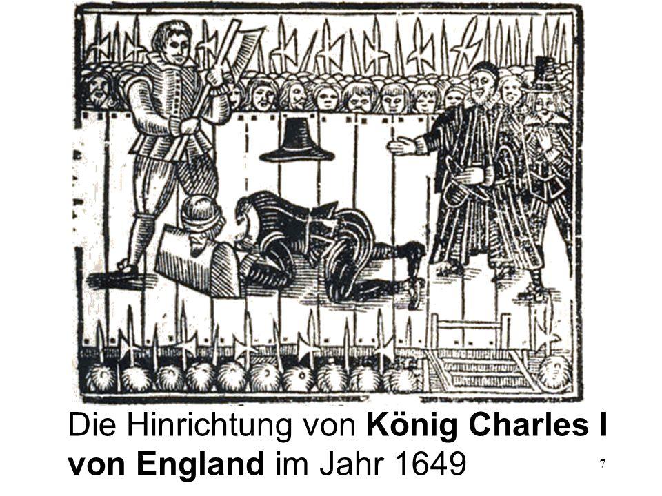 Die Hinrichtung von König Charles I