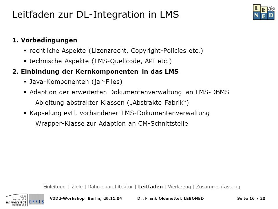 Leitfaden zur DL-Integration in LMS