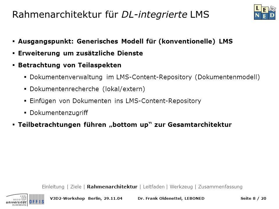 Rahmenarchitektur für DL-integrierte LMS