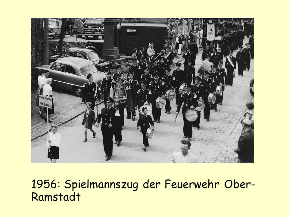 1956: Spielmannszug der Feuerwehr Ober-Ramstadt
