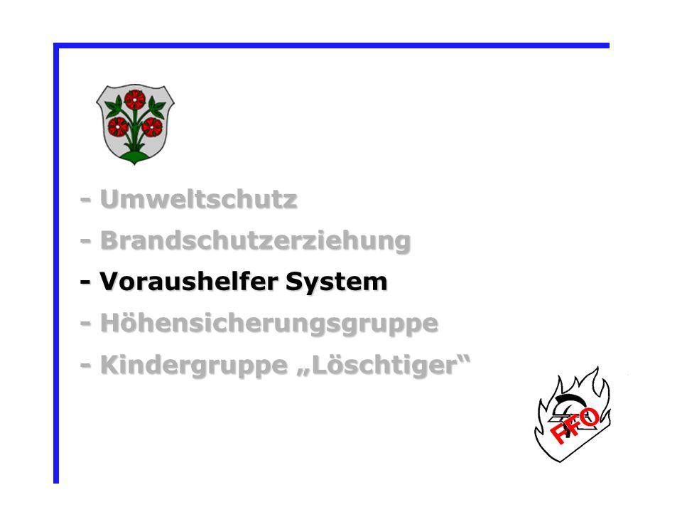 - Brandschutzerziehung - Voraushelfer System - Höhensicherungsgruppe