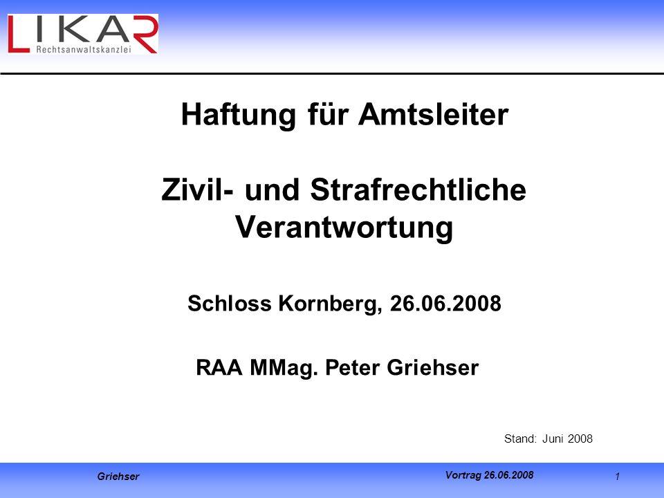 RAA MMag. Peter Griehser Stand: Juni 2008
