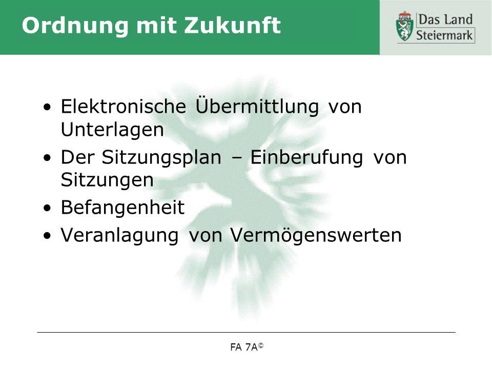 Ordnung mit Zukunft Elektronische Übermittlung von Unterlagen