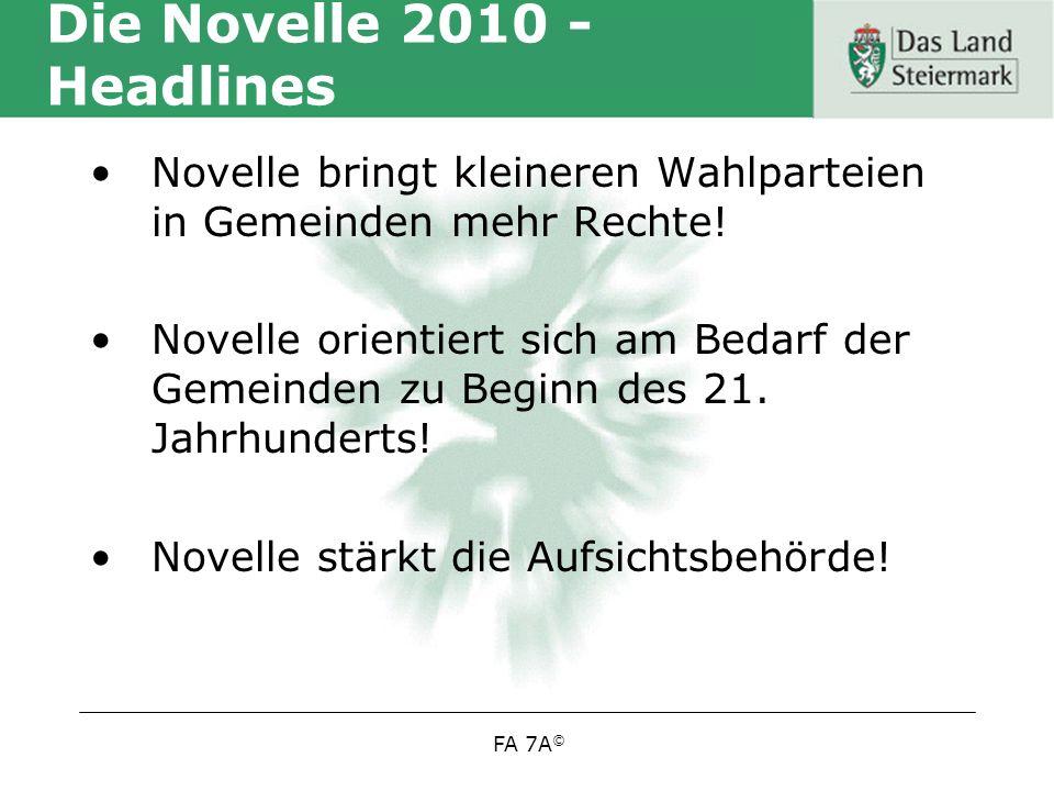Die Novelle 2010 - Headlines