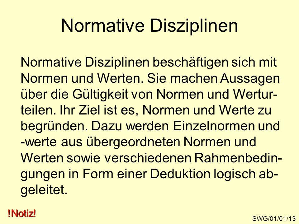 Normative Disziplinen