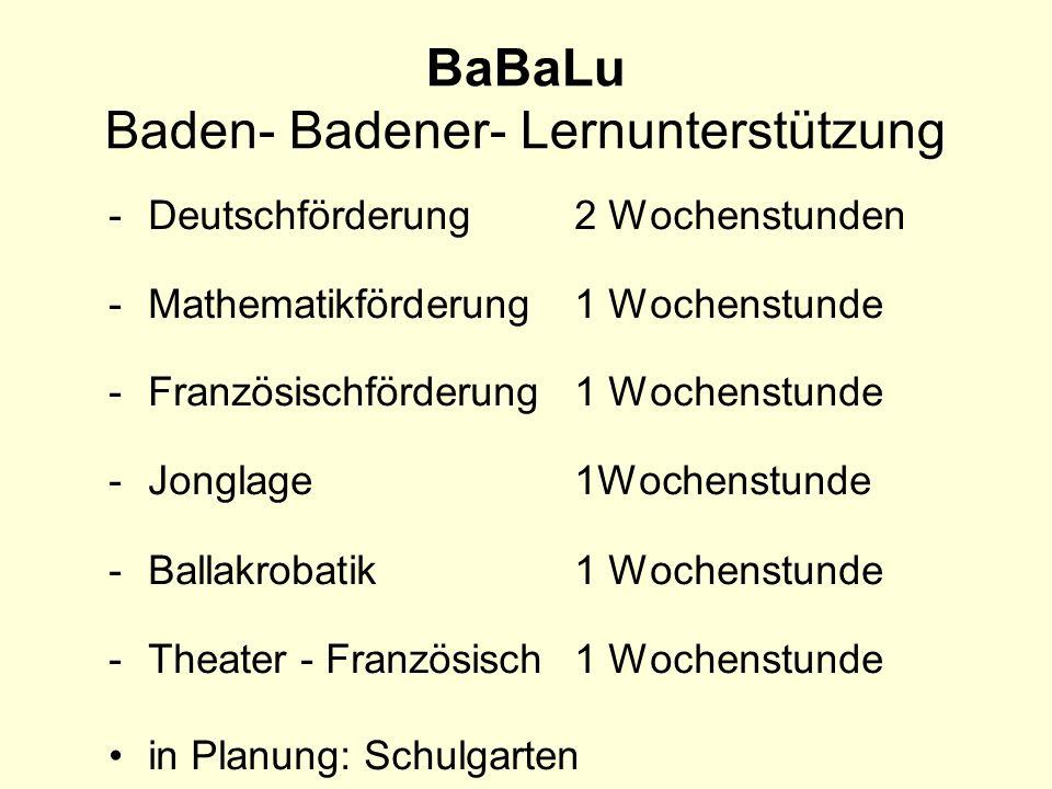 BaBaLu Baden- Badener- Lernunterstützung