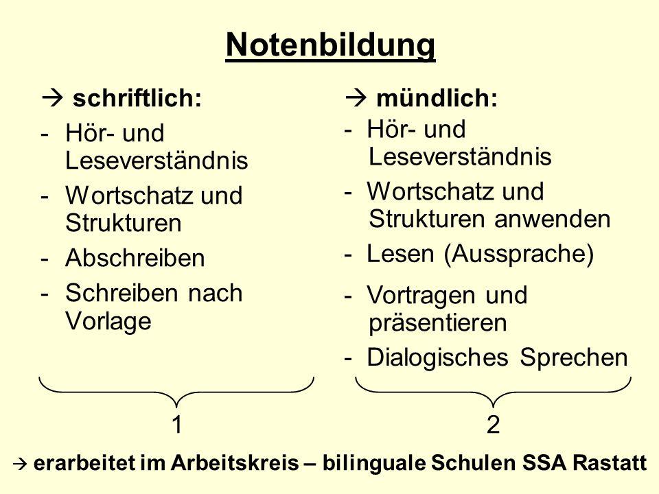  erarbeitet im Arbeitskreis – bilinguale Schulen SSA Rastatt