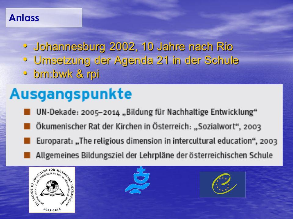 Johannesburg 2002, 10 Jahre nach Rio