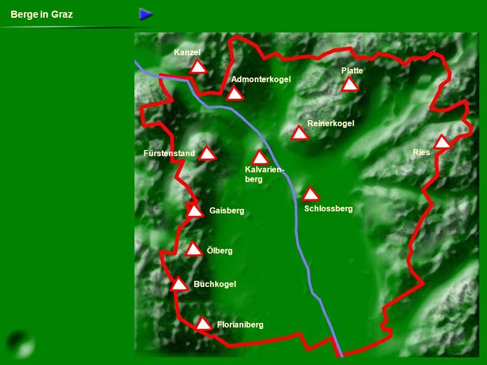 Berge in Graz Kanzel Platte Admonterkogel Reinerkogel Fürstenstand