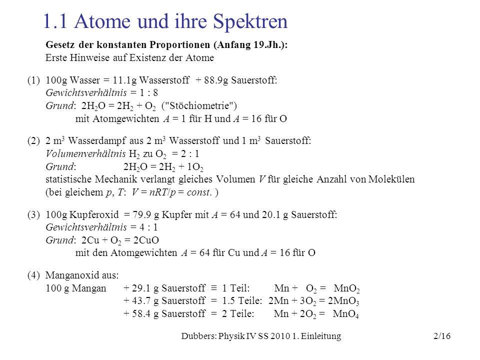 1.1 Atome und ihre Spektren