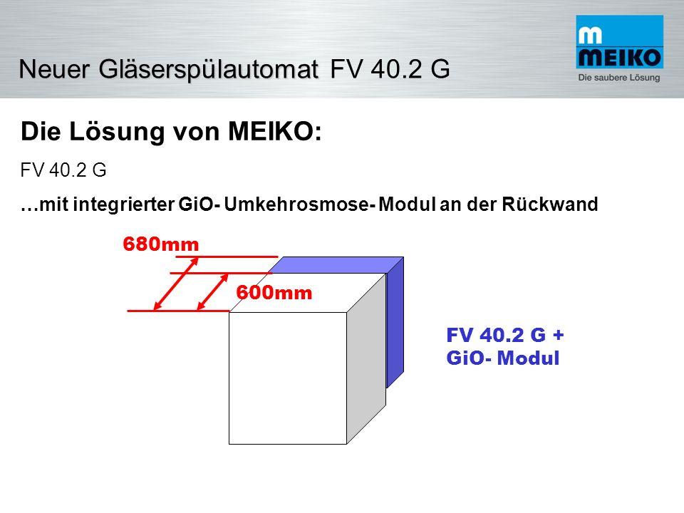 Die Lösung von MEIKO: FV 40.2 G