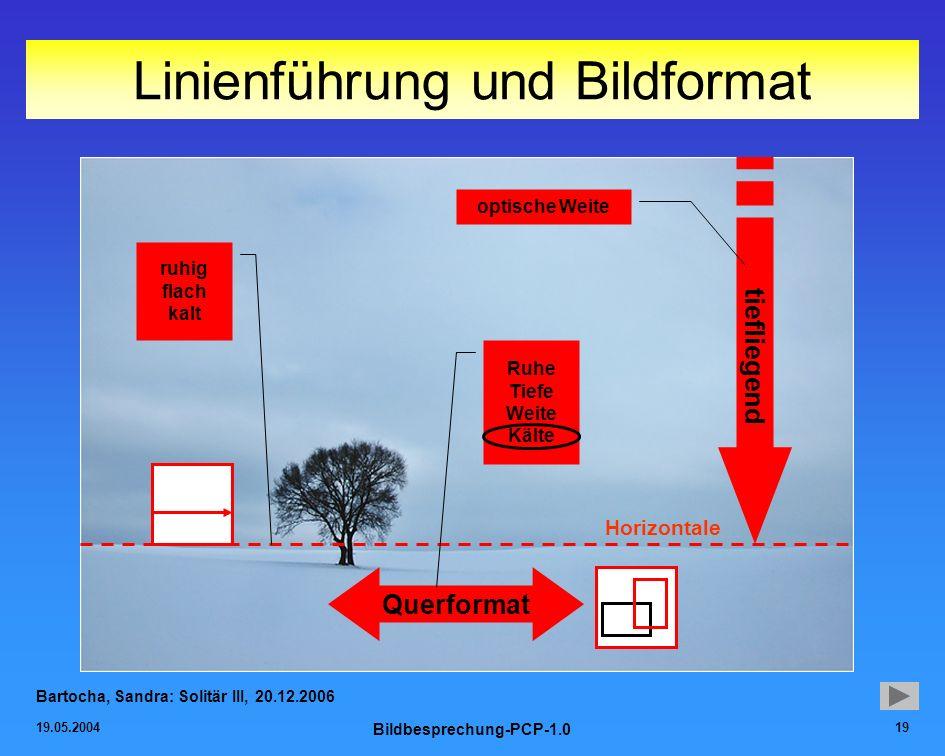 Linienführung und Bildformat