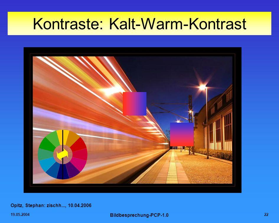 Kontraste: Kalt-Warm-Kontrast
