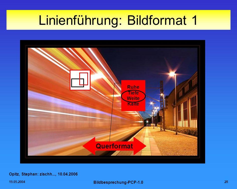 Linienführung: Bildformat 1